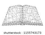 open book from futuristic...   Shutterstock .eps vector #1155743173