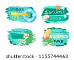 summer big sale summertime... | Shutterstock .eps vector #1155744463