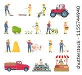farmer work agriculture...   Shutterstock .eps vector #1155744940