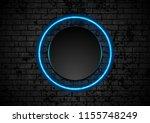 blue neon circle on grunge...   Shutterstock .eps vector #1155748249