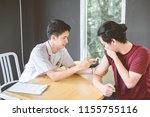 doctor applying injection to...   Shutterstock . vector #1155755116