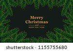 christmas frame.  vector... | Shutterstock .eps vector #1155755680