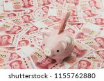 pink piggy bank and chinese... | Shutterstock . vector #1155762880