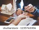 real estate agent sales manager ... | Shutterstock . vector #1155763306