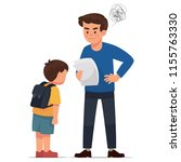 angry father because his son... | Shutterstock .eps vector #1155763330