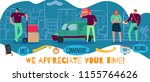 delivery service poster with... | Shutterstock .eps vector #1155764626
