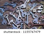collection of a variety of old... | Shutterstock . vector #1155767479