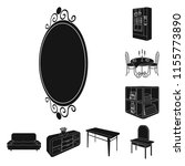 furniture and interior black... | Shutterstock .eps vector #1155773890