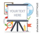 your text here. empty text... | Shutterstock . vector #1155774163
