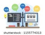 programmers computer... | Shutterstock . vector #1155774313