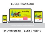 cartoon equestrian sport... | Shutterstock .eps vector #1155775849