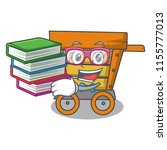 student with book wooden... | Shutterstock .eps vector #1155777013