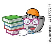student with book juicer mascot ... | Shutterstock .eps vector #1155777349
