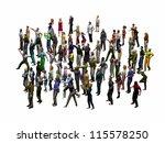 crowd of people looking in the... | Shutterstock . vector #115578250