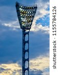 floodlight poles in a sports... | Shutterstock . vector #1155784126