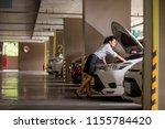 working women are watching the... | Shutterstock . vector #1155784420