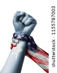american vs somalia  fist... | Shutterstock . vector #1155787003