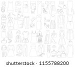 sketch set of fashion clothes | Shutterstock .eps vector #1155788200