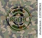 urgency written on a camouflage ... | Shutterstock .eps vector #1155788563