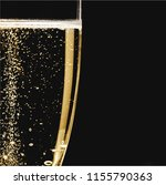 close up champagne bubbles in... | Shutterstock . vector #1155790363