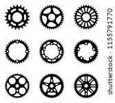 set of sprocket wheel icons.... | Shutterstock .eps vector #1155791770