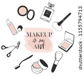 poster makeup is my art with... | Shutterstock .eps vector #1155794713