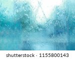Background texture of water falling on the glass