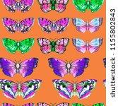 butterfly watercolor...   Shutterstock . vector #1155802843