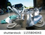 boat propellers speed boat made ... | Shutterstock . vector #1155804043
