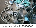 boat propellers speed boat made ... | Shutterstock . vector #1155804046