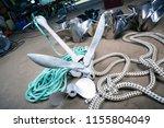 boat steel propellers anchor ... | Shutterstock . vector #1155804049