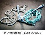 boat anchor and  ropes on the... | Shutterstock . vector #1155804073