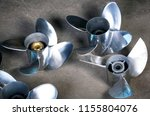 boat propellers speed boat made ... | Shutterstock . vector #1155804076