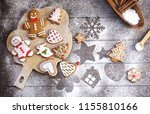 christmas cookies of various...   Shutterstock . vector #1155810166