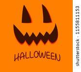 pumpkin face for happy... | Shutterstock .eps vector #1155811153