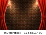 scene with open curtains...   Shutterstock .eps vector #1155811480