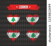 lebanon. collection of four... | Shutterstock .eps vector #1155813499