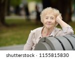 outdoor portrait of beautiful... | Shutterstock . vector #1155815830
