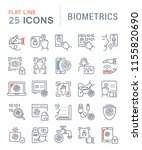 set of vector line icons of... | Shutterstock .eps vector #1155820690