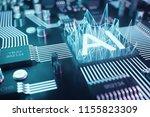 3d illustration abstract... | Shutterstock . vector #1155823309
