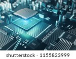 circuit board. technology... | Shutterstock . vector #1155823999