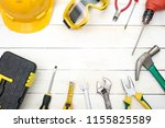 construction tools on white...   Shutterstock . vector #1155825589