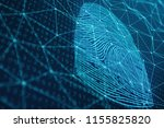 3d illustration fingerprint... | Shutterstock . vector #1155825820