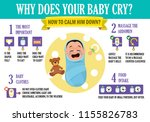 why does your baby cry ... | Shutterstock .eps vector #1155826783