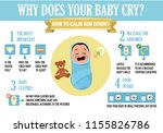 why does your baby cry ... | Shutterstock .eps vector #1155826786