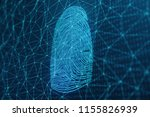 3d illustration fingerprint... | Shutterstock . vector #1155826939
