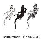 lizard chameleon gecko...   Shutterstock .eps vector #1155829633