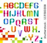 spectral letters folded of... | Shutterstock .eps vector #115583308