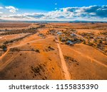 aerial view of a small town in... | Shutterstock . vector #1155835390