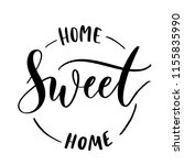 home sweet home    round stamp  ... | Shutterstock .eps vector #1155835990